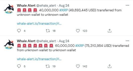 300 Milyon Dolar Değerinde XRP Aktarıldı! 2 - 300 milyon dolar degerinde xrp aktarildi 1
